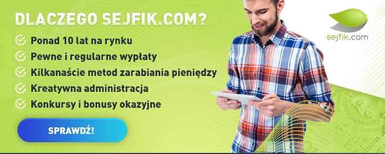 Sejfik.com - zarabianie przez internet